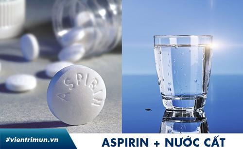 trị mụn bằng aspirin