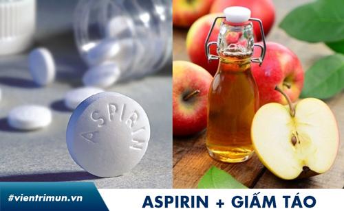 aspirin trị mụn bọc