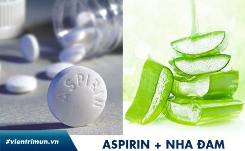 trị mụn bằng thuốc aspirin