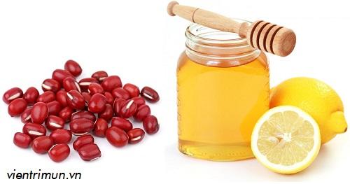 mặt nạ đậu đỏ mật ong