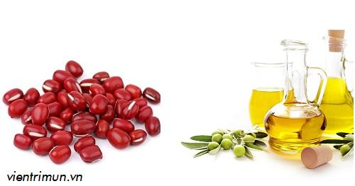 mặt nạ đậu đỏ dầu oliu