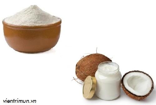 mặt nạ dầu dừa làm trắng da