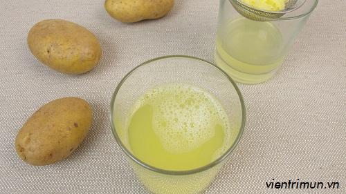 mặt nạ khoai tây trị mụn