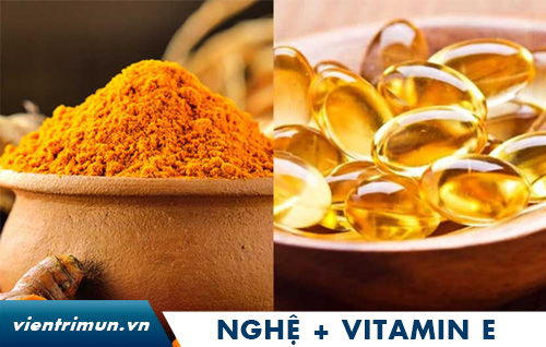 mặt nạ bột nghệ và vitamin e