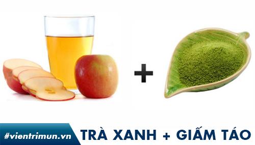 Mặt nạ trà xanh giấm táo