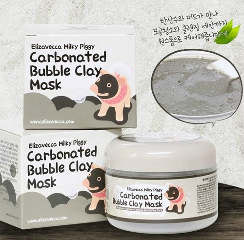 mặt nạ bì heo carbonated bubble clay mask
