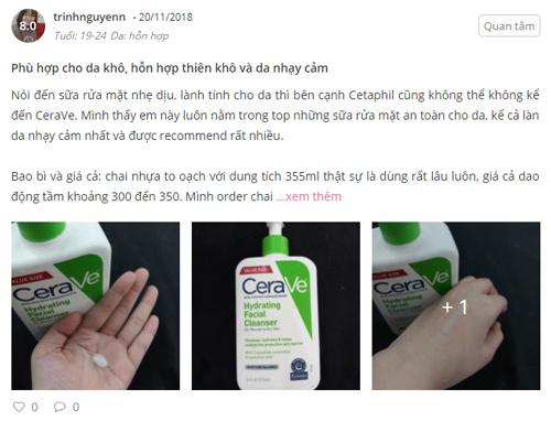 sữa rửa mặt cerave review