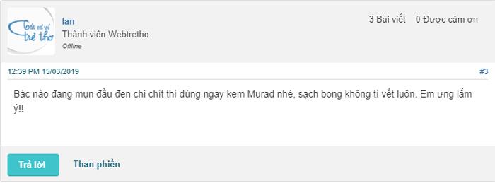 review kem trị mụn của murad