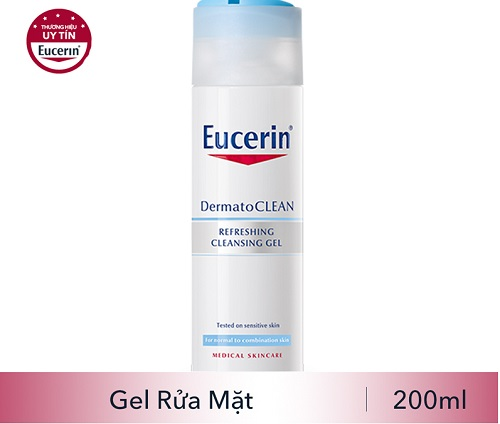 sữa rửa mặt eucerin cho da nhạy cảm