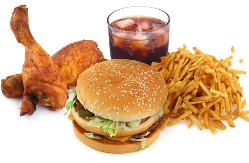 bị mụn k nên ăn gì