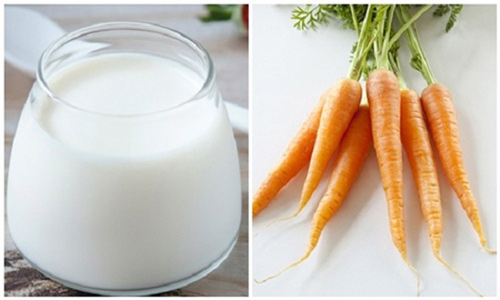 cách làm mặt nạ cà rốt sữa tươi