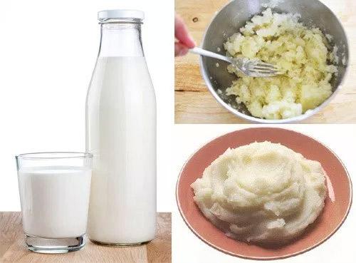 đắp mặt nạ khoai tây sữa tươi hàng ngày