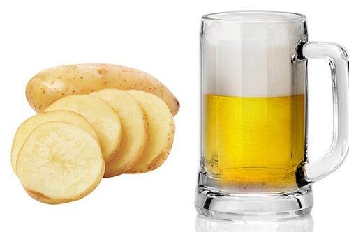 mặt nạ bia với khoai tây