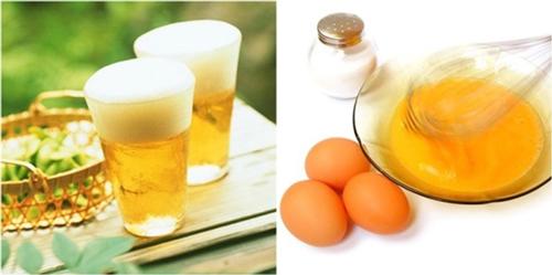 mặt nạ bia và trứng gà