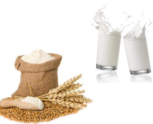 mặt nạ sữa tươi bột mì