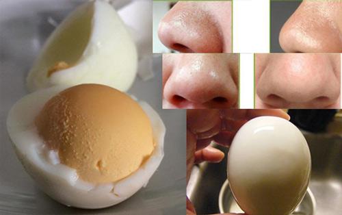 trị mụn cám bằng trứng luộc